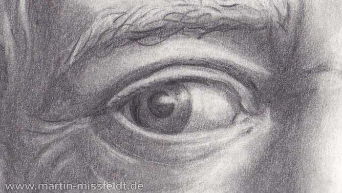 Auge (Portraitzeichnung, Detail 1)