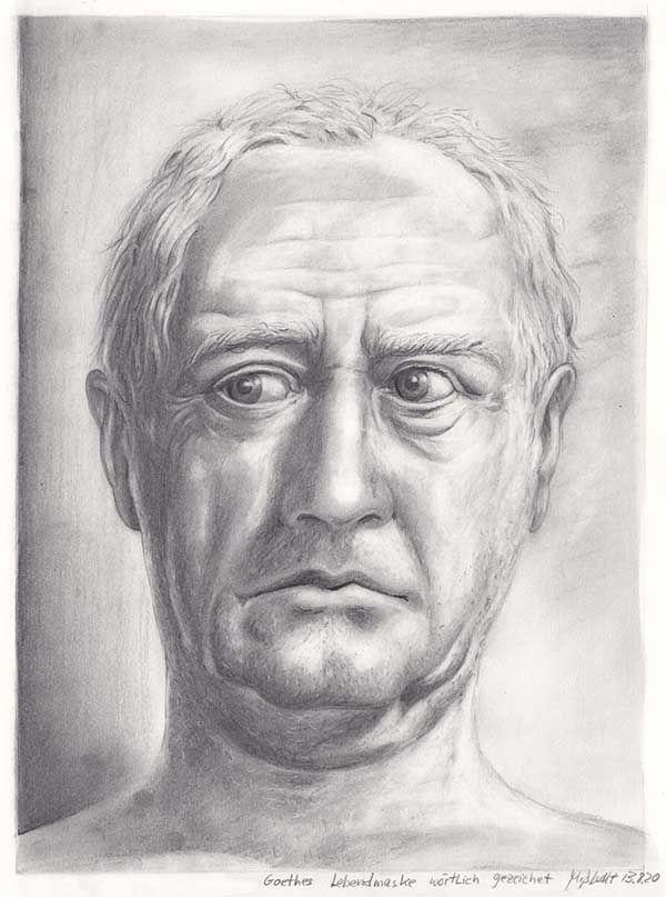 Goethe Privat Portraitzeichnung