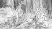Laum auf dem Boden (Bleistift)