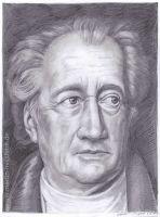 Johann Wolfgang von Goethe (Portrait-Zeichnung)