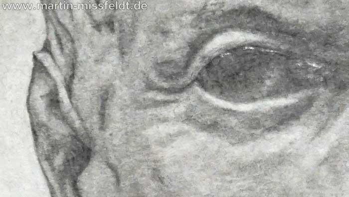 Julius Ceasar Bleistiftzeichnung (Detail 1)