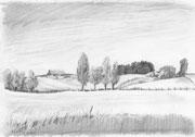 Landschaft Bleistiftzeichnung