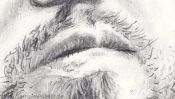Mund zeichnen, Portraitzeichnung (Detail 2)