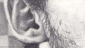 Ohr zeichnen, Portraitzeichnung (Detail 4)