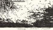 Wukensee (Grafik, Brush-Pen-Zeichnung) (Detail 5)