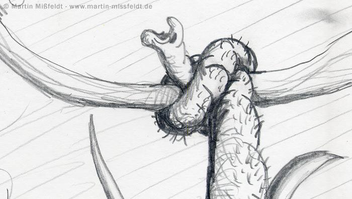 Knoten im Rüssel