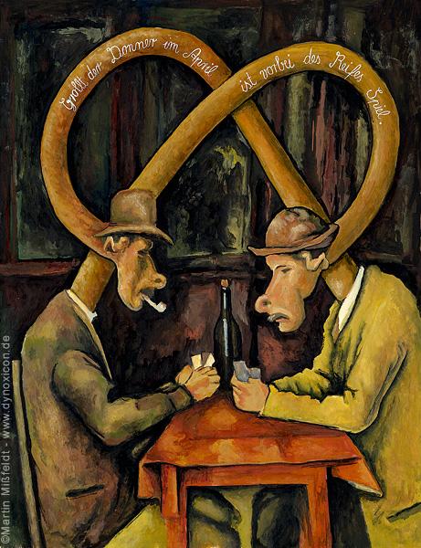 Kartenspieler nach Paul Cezanne