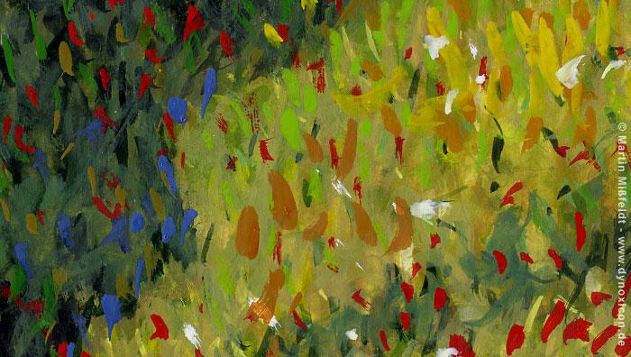 Die Impressionistische Blumenwiese Aus Spaziergang Mit