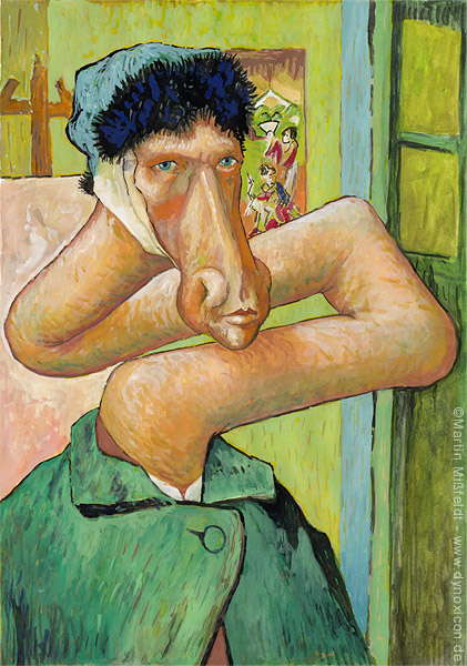 Selbstbildnis mit ohne Ohr - nach Vincent van Gogh