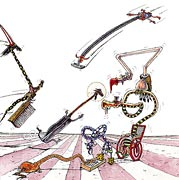 2: Hexen auf Handfeger, Ratte und Staubsauger