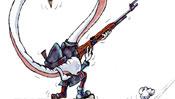 Ein Jäger mit seiner Flinte