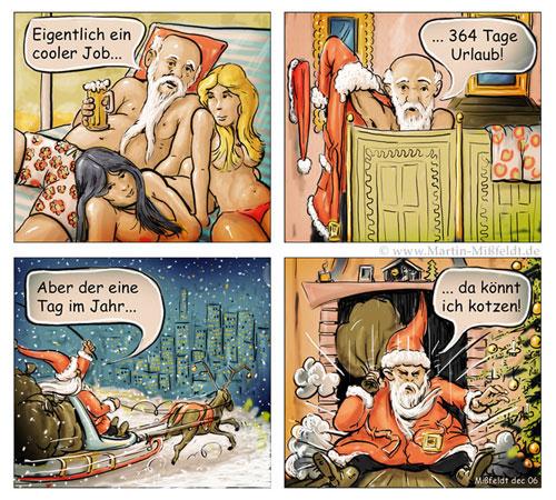 Der coole Job des Weihnachtsmann