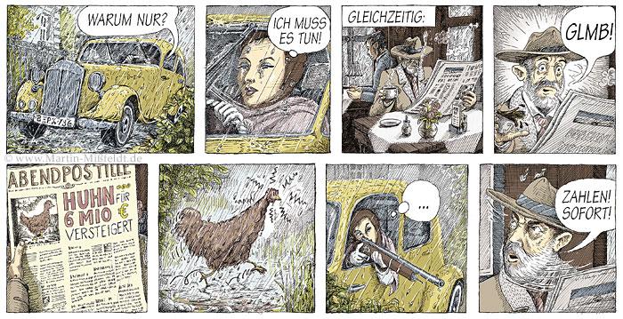 Comic color : 6 Mio Euro Huhn - Bild von Martin Mißfeldt