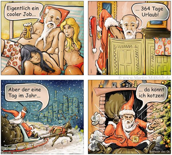 Der coole Job des Weihnachtsmannes