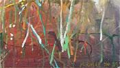 Abstrakte Farbkleckse