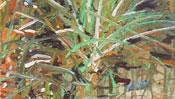 Ölmalerei Gras auf feuchtem Boden
