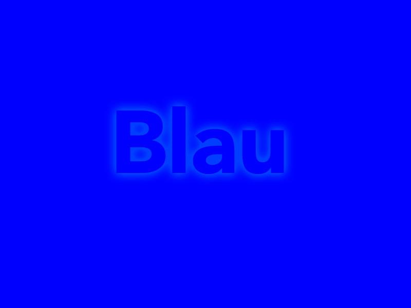 Blau - Digitale Malerei