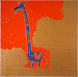 Ölbild: Die Verdauung der Giraffe