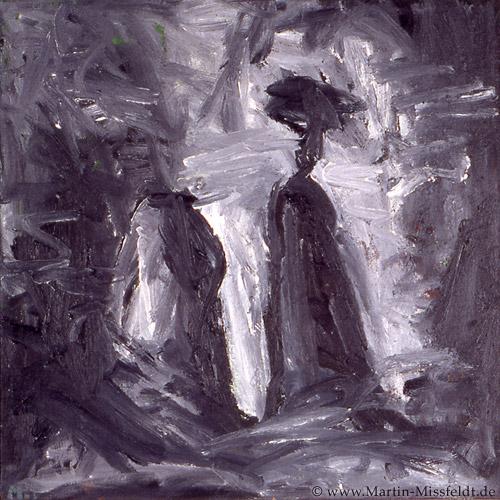 Ölmalerei: Zwei Berge