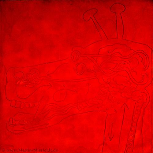 Röntgenbild einer roten Giraffe