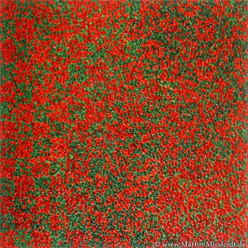 Rot Grün Tupfen – Abstrakte Malerei
