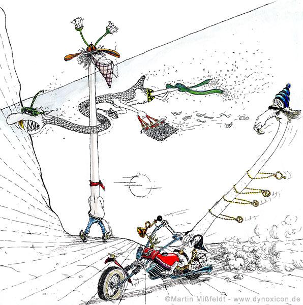 Easy Rider -Großstadtrocker in freier Wildbahn
