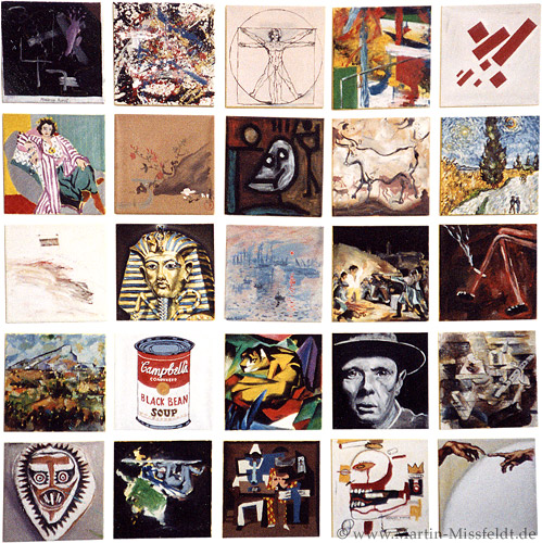 Kunstbilder: 4 x 25