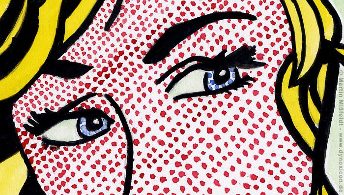 Die augen der blonden aus blonde nach roy lichtenstein - Pop art roy lichtenstein obras ...