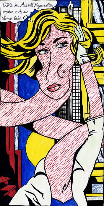 Blonde nach Roy Lichtenstein
