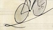 Das Fahrrad auf dem Hochseil