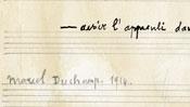 Die Signatur Marcel Duchamps (nachgemacht)