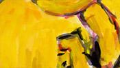 Baselitz-Malerei mit Gelb
