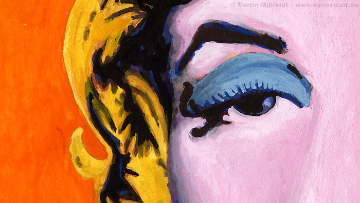 Das rechte Auge von Marilyn