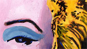 Pure Popart: Das linke Auge von Marilyn Monroe