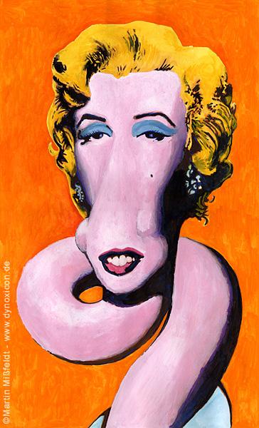 Marilyn Giraffe (nach Andy Warhol)