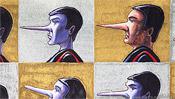 Zwei Typen mit langer Nase