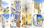 Watercolors � Island Naxos - art pictures gallery