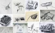 Bleistiftzeichnungen - Studien-Zeichnungen