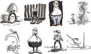 Menschen Cartoons