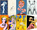 Modern art cartoons: Paul Klee, popart, Andy Warhol - art pictures gallery