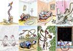 Amorous cartoons - fun cartoons - art pictures gallery