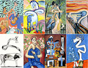 Picasso, Matisse, Munch - art cartoons - art pictures gallery