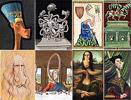 Masterpiece-cartoons from Nefertiti to Leonardo da Vinci - art pictures gallery