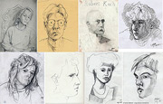 Portrait drawings - faces, drawn with pencil - art pictures gallery