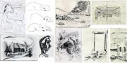 Skizzen und schnelle Zeichnungen