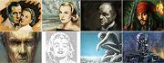 Icons of pop-culture - time lapsed painting videos - art pictures gallery