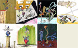Really madness - giraffe cartoons - art pictures gallery