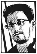 20: Edward Snowden (Linoldruck)