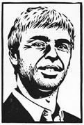 Linoldruck Larry Page