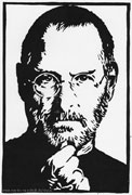 20: Linoldruck Steve Jobs